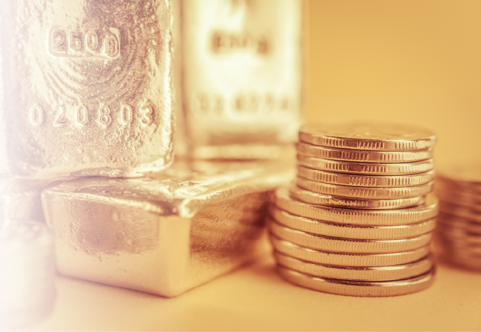 Monedas e ingots